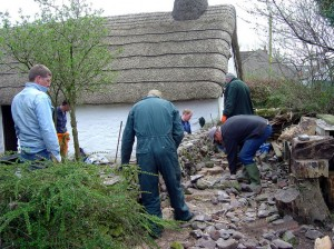 Friends from the Barony College rebuilding our stone dyke as part of their training programme - magic!